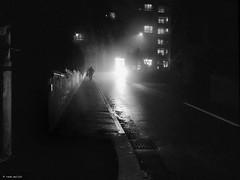 the wind has changed (René Mollet) Tags: cold rain fog foggy night nightshot dark changing street streetphotography shadow silhouette aarau monchrom monochromphotographie blackandwhite bw renémollet