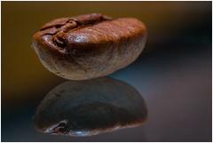 Coffee bean (NL_dennis) Tags: coffee bean kofieboon macro reflextion reflextie spiegeling brown bruin nostrobistinfo removedfromstrobistpool seerule2