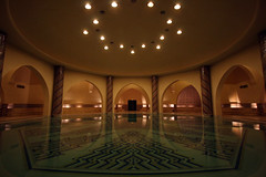 Hammam Symmetry (MykReeve) Tags: reflection water pool arch arches symmetry morocco casablanca hammam hassaniimosque