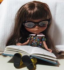 lila having a read