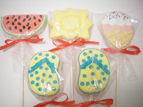 Summer Cookie Pops