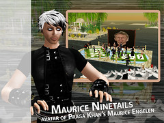 Maurice Engelen in Second Life - shooting for Frame by Frame