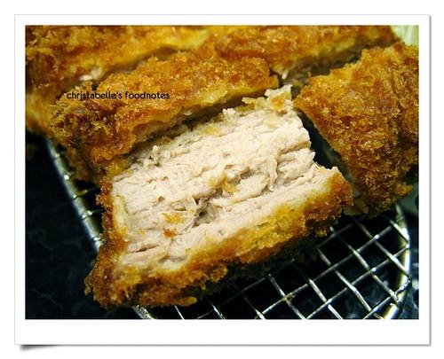 卡滋豬排腰內肉豬排斷面