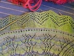 cap shawl started edging