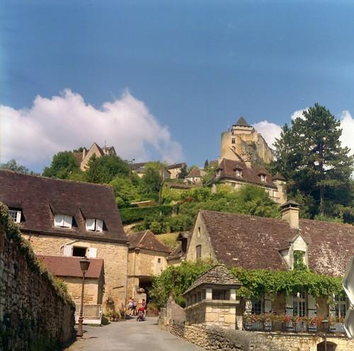 Village de Castelnaud vu d'en bas