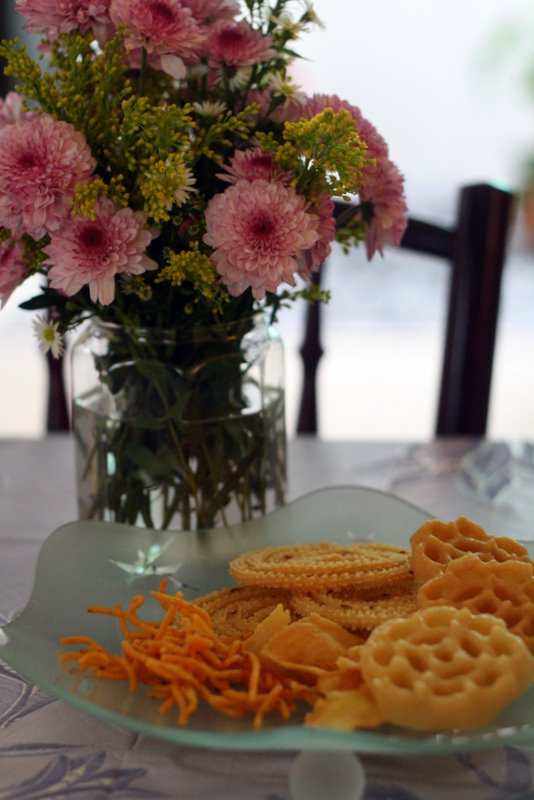 Deepavali cookies and muruku assortment