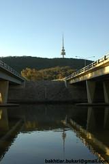 DSC_0070 (bakhtiar a. bukari) Tags: mountain lake reflection tower water canberra