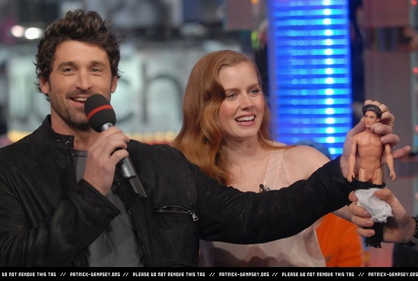 Amy Adams and Patrick Dempsey visit MTV's TRL -19th November 2007