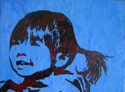 Stencil Portrait - Kari's daughter