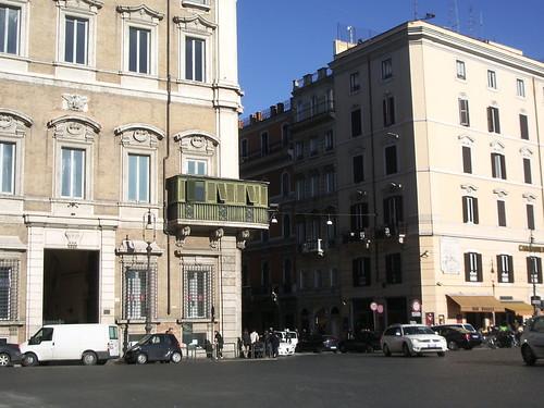 Terracita en la Piazza di Venecia de Roma