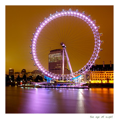 the eye at night (delroy.beaton) Tags: county city bridge england urban reflection eye colors westminster thames river pier unitedkingdom britain great cityscapes landmark icon southbank riverthames metropolitan squaremile hallcity worldicon superbmasterpiece attractionlondon europetourist