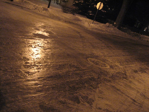 icy Minneapolis streets