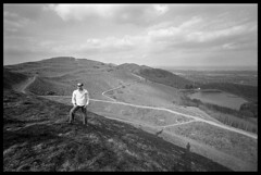 Magnificent Malvern Hills (*monz*) Tags: leica uk sky blackandwhite bw film grass clouds landscape iso400 voigtlander trix grain wide rangefinder wideangle super hills malvern worcestershire rodinal grainisgood m6 15mm heliar monz excellentphotographerawards