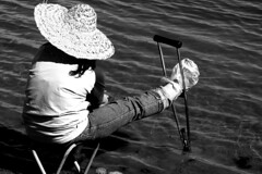 Ability... (JaB IZ) Tags: fishing iran crutch ahar   azarbayjan jabiz     shafiuon inhability
