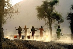 Women fetching water in Eritrea