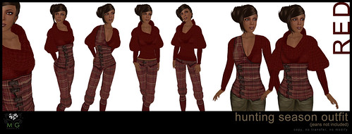 [MG fashion] Hunting Season Outfit - red