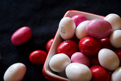 M is for Many (Culinary Fool) Tags: pink red white holiday black macro hearts dof candy sweet bokeh chocolate letters m vday font alphabet mm valentinesday culinaryfool
