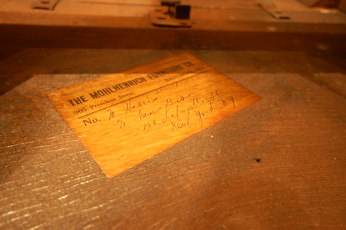 Mohlhenrich Furniture Tag