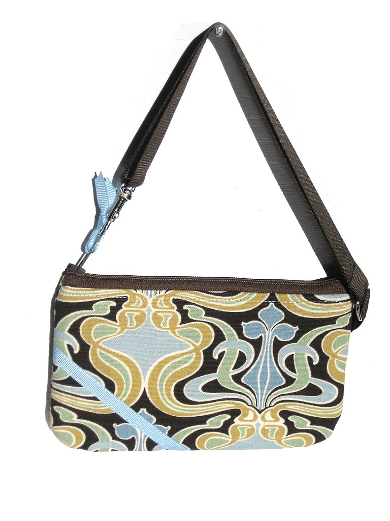 Brown Genie Lamp - Zippy Zipper Pouch or Convertible Wristlet / Handbag