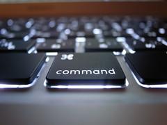 MacBook Air keyboard backlights (digitalbear) Tags: macro apple japan backlight tokyo keyboard key air command mabook eyefi