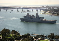 Stealthy Boat (jurvetson) Tags: marina boat ship sandiego navy stealth combat littoral