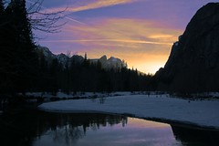 Yosemite Sunset-.jpg (YOSEMITEDONN) Tags: sunset snow reflection yosemite picturesque mercedriver naturescall abigfave diamondclassphotographer flickrdiamond treeofhonor bridalveilfallshalfdomesnowsunsetyosemiteyosemitefalls