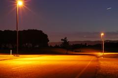 Night Shot (amoraleda) Tags: ca street longexposure lamp night clouds 50mm lights bay nikon streetlight san francisco long exposure shot empty horizon d70s sanfranciscobayarea area emptystreet earthnight earthnite