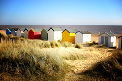 Southwold beach huts (ludwig van standard lamp) Tags: beach suffolk lomo lomography hut creativecommons southwold walbeswick elomo southwoldsojourn