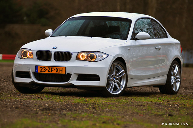 white bmw 135 306 coupé 1series 135i
