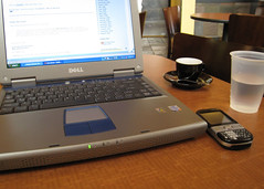 working from the coffee shop
