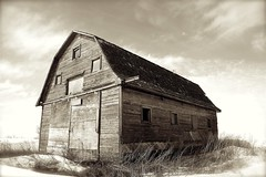 Barn on the Prairie (Ken Yuel) Tags: old winter classic barn wooden textures worn weathered lonely prairies decayed nolongerused fineartphotos goldenmix anawesomeshot elpasojoe ultimateshot wonderfulworldmix damniwish hiddentreasuremanitoba