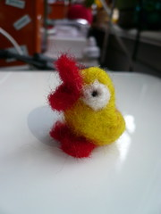 i love my little cheerful chick! (giolou) Tags: love apple felted mac jennifer critter adorable mini chick gifts