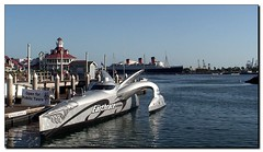 Earthrace In Long Beach (- Burning Rubber -) Tags: california race hotel boat losangeles harbour speedboat queenmary longbeach miscellaneous powerboat biodiesel videostill worldrecord aroundtheworld burningrubber blueribbonwinner earthrace abigfave platinumphoto anawesomeshot sonyhdrhc3e