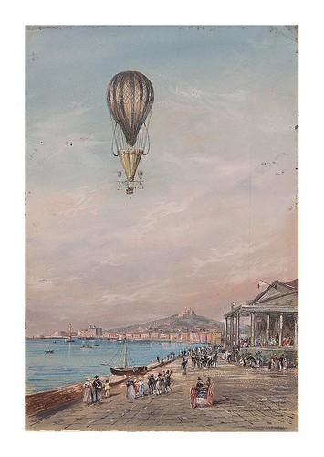 01-Globo con paracaídas y hélices Francesco Orlandi entre 1820-1850