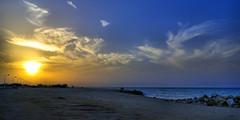 Sunset in Kish Island, Persian Gulf, Iran (Persia)           (eshare) Tags: sunset sea sky beach landscape persian iran persia kish iranian  iranians persiangulf persians    kishisland      sonyalphadslra100 sal1870 damoonseasidecomplex kamyarghafouri shutterspeed1200sec  damoonekish 100  kishcyclingroute sonydt1870mmf3556lens lensfocallength18mm diaphragmvaluef80