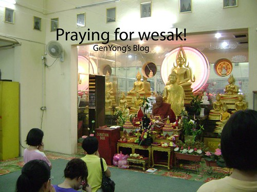 Praying for wesak