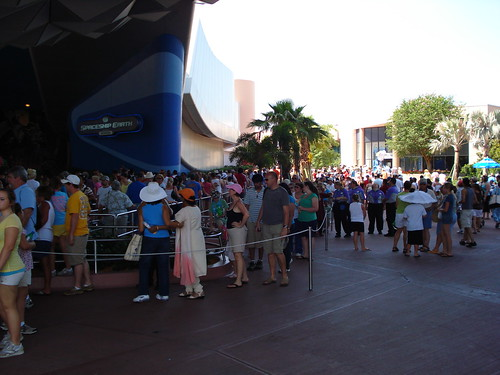Spaceship Earth's wait time was for 20min today