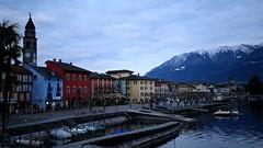 Blue Hour at Ascona (K M V) Tags: ticino tessin switzerland ascona colors colorfulhouses sveitsi schweiz svizzera suisse
