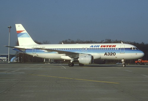 Air Inter Airbus A320-100; F-GGED@BSL, January 1989