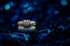 Bling, Bling (Lynleigh Cooper) Tags: diamond diamonds ring jewlery bokeh detail color colorful colorimage blue gold macro macrophotography love lovely beauty beautiful naturalbeauty nikon fineart jewel amazing composition photo photography photographer photooftheday contrast bling pretty beautyinnature smoothbokeh wedding weddingphotography nikond750 d750 primelens weddingring upclose colors vividcolor vivid
