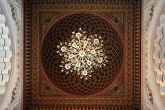 Beneath Venetian Craft (MykReeve) Tags: roof arch arches mosque ceiling morocco chandelier casablanca hassaniimosque
