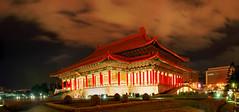 國家戲劇廳 (Fu-yi) Tags: panorama color night scenery sony wide taiwan alpha dslr 台灣 夜景 全景 formosan 顏色 全景照 國家戲劇廳 vigilantphotographersunite