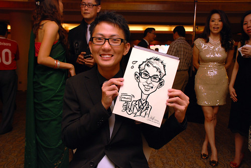 caricature live sketching for Great Eastern Achievers Nite 2011 - 10