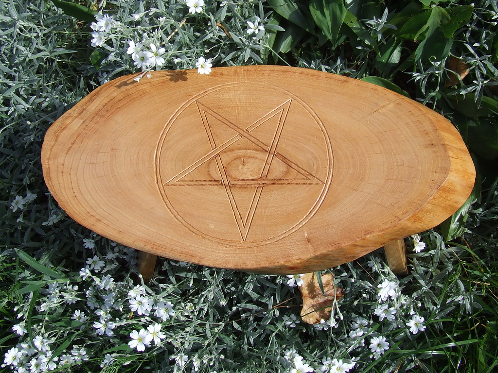 Pentagram Wooden Altar/Table