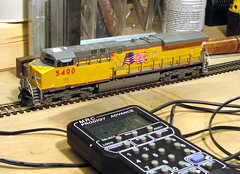 Model train fans, check this out! (_Allen_) Tags: railroad up train demo video model awesome dcc evolution electronics sound unionpacific locomotive ge gevo arewenotmenwearegevo c45ccte
