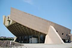 KAGAWA PREFECTURE GYMNASIUM: Kenzo Tange, Takamatsu, Kagawa, Jun. 1964 (wakiiii) Tags: japan architecture naoshima