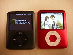 iPod nano 黑 vs 紅
