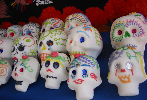 Sugar skulls at the Day of the Dead festival in Oakland