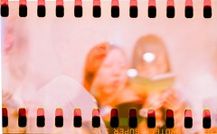 (lazay bee) Tags: pink girl friend bee 100 agfa  mutipleexposures isollette 135