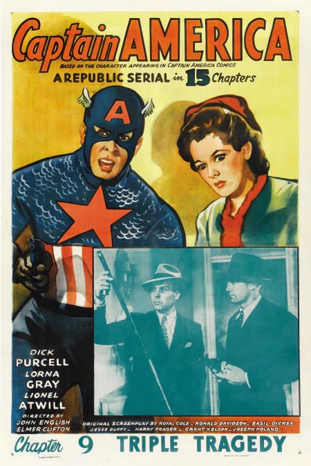 captain america serial poster